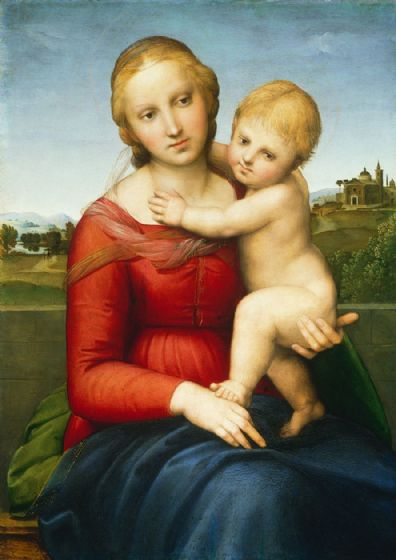 Raphael (Raffaello Sanzio of Urbino): The Small Cowper Madonna. Fine Art Print/Poster. Sizes: A4/A3/A2/A1 (001938)